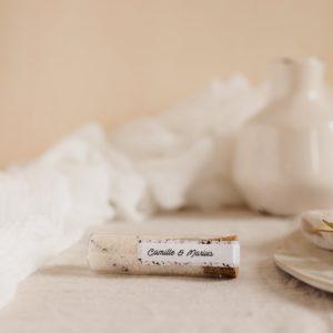 tube fleur de sel romarin stickers terrazzo cadeau personnalisé mariage