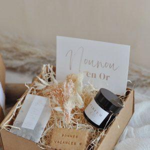 box cadeau personnalisé nounou en or